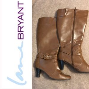 Lane Bryant Tan Boots 8Wide